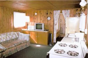 Cabin interior at Lake George Resort.