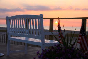 Romantic sunsets at The White Sands Oceanfront Resort & Spa.
