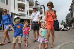 Family at Bay Harbor Resort and Marina.