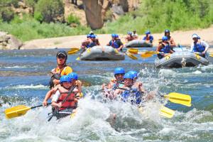River rafting at Mt. Princeton Hot Springs Resort.