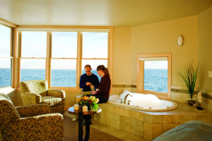 Master suite at Surfside on Lake Superior.