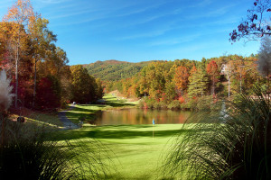 Golf course at Rumbling Bald Resort.