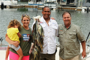 Family fishing at Highland Marina Resort.