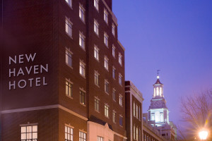 Exterior view of New Haven Hotel.