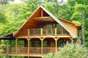 Cabin exterior at Mountain Shadows Resort.