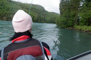 Boating at Trail Lake Lodge.