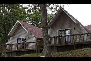 Cabin exterior at Artilla Cove Resort.