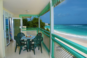 Guest balcony at Coral Mist Beach Hotel.