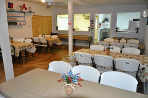 The Meeting Room has a full kitchen and seats 40-perfect for meetings and seminars.