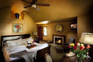 Guest room at Applewood Inn, Restaurant and Spa.