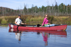 Canoeing at Algonquin Eco-Lodge.