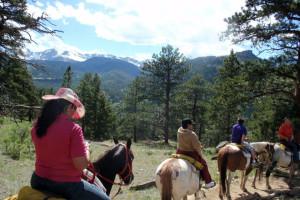 Trail riding at Alpine Trail Ridge Inn.