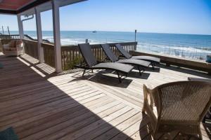 Rental deck view at TI Rentals.