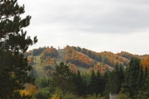 Fall at Big Powderhorn Lodging.