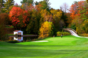 Golfing at The Briars.