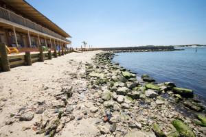 The beach at Oceanic Motel Ocean City.