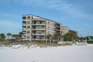Exterior view of Gulf Strand Resort.
