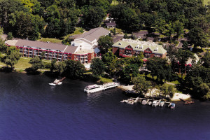 Aerial view of Heidel House Resort.