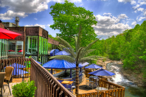 Deck view from Ascend Hotel Collection-The Woodlands Inn.