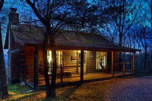 Cabin exterior at The Retreat at Sky Ridge.