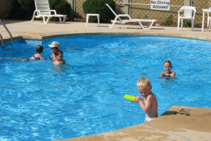 Outdoor pool at Mill House Lodge.