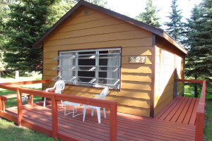 Cabin exterior at Fair Hills Resort.