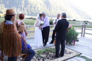 Wedding at Clayoquot Wilderness Resort.