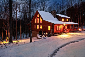 Cabin exterior at Getaway Cabins.