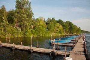 Dock at Lake Dalrymple Resort.