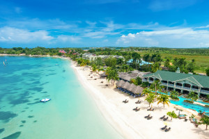 Exterior view of Sandals Negril Beach Resort and Spa.