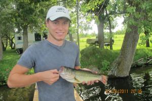 Fishing at Whispering Waters Resort.