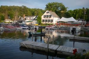 Harbor at Sunapee Harbor Cottages.