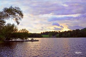 The lake at Skytop Lodge.
