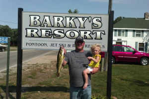 Fishing at Barky's Resort.