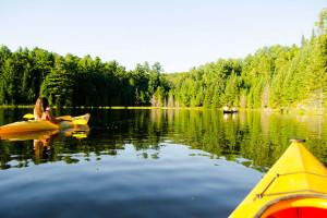 Canoeing on lake a Footprints Resort.