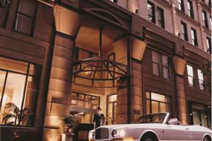 Exterior view of Cincinnatian Hotel.