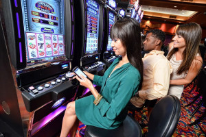 Slot machines at Quinault Beach Resort & Casino.