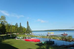 Lake view at Timber Trails Resort.