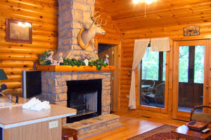 Cabin living room at Westgate Branson Woods.