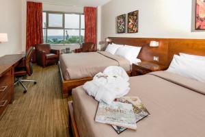 Guest room at Fairmont Chateau Laurier.