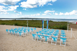 Wedding on the beach at The Cherry Tree Inn & Suites.