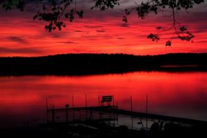 Beautiful sunset at White Manor Resort.