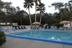 Outdoor pool at Navarre Beach Campground.