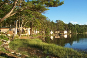Shoreline at Sheepscot Harbour Village & Resort.