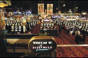 Casino slots at Hollywood Casino Tunica.