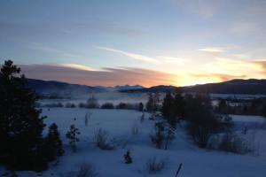 Sunrise at Frisco Lodge.