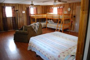 Cabin interior at Yogi on the Lake.