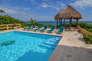Rental pool at Villa Nicte-Ha.