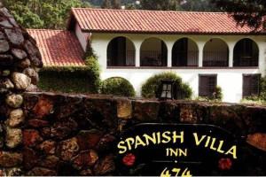 Exterior view of Spanish Villa Inn.
