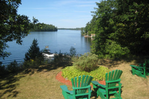 Lake view at Cedarwood on Lake Muskoka.